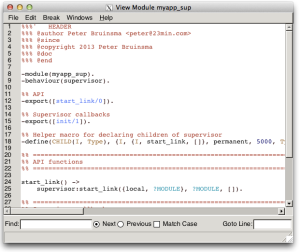 Erlang debugger on Mountain Lion